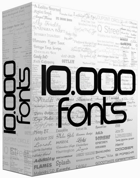 10000 Huge Collection of Fonts for Commercial Use free Download