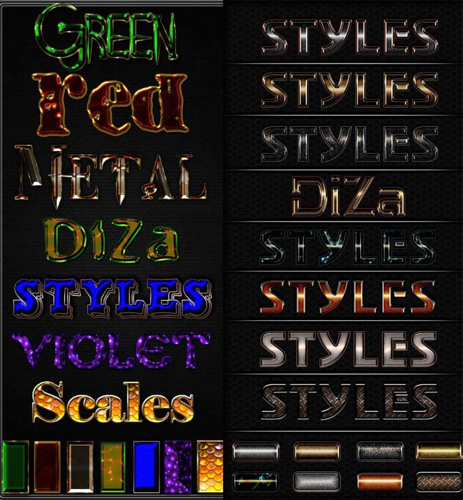 Text Styles Pack Adobe Photoshop
