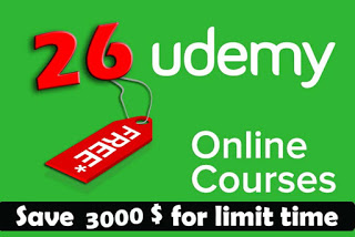 100% off Coupons of 24 Udemy Courses and save 3000$ for limit time