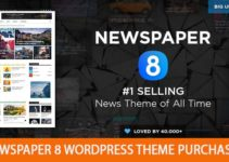Newspaper 8 Wordpress theme purchased latest Download