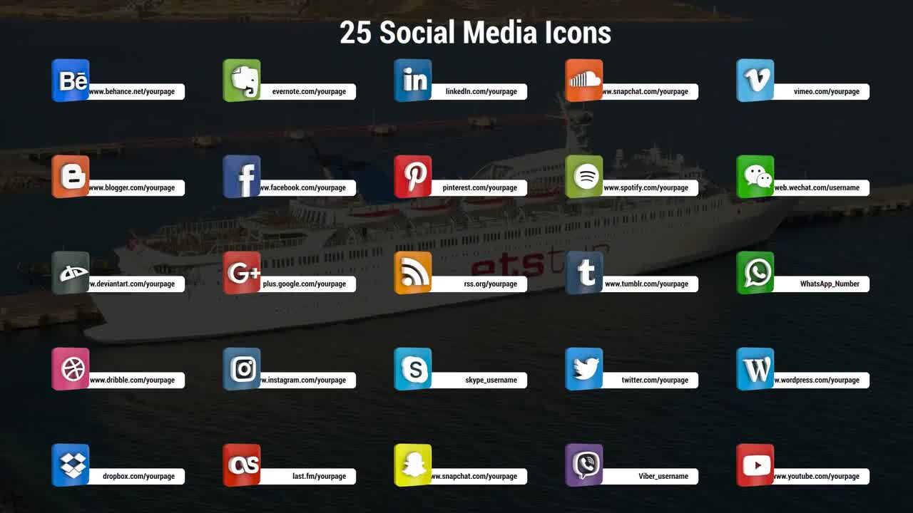 Photo of Free Download 3D Social Media Icons Premiere Pro Templates 90138