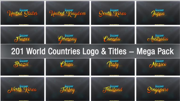 Photo of Download 201 World Countries Logo & Titles Mega Pack