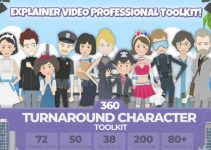 Free Download 360 Turnaround Character Toolkit for After Effects