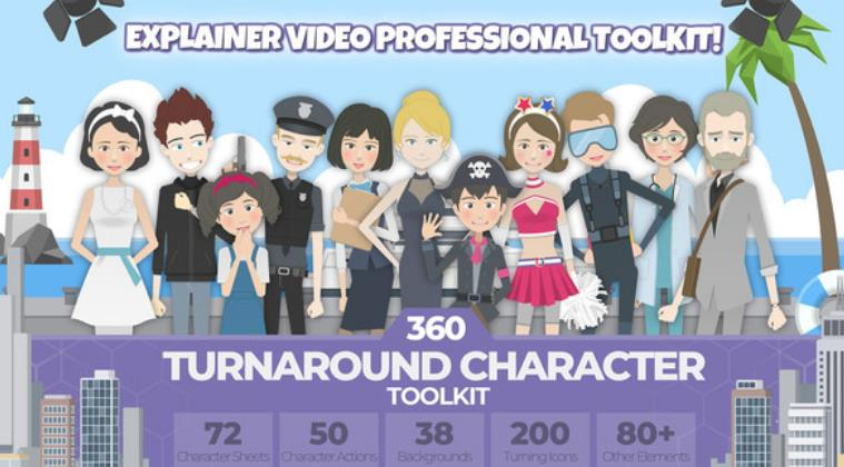 Photo of Free Download 360 Turnaround Character Toolkit for After Effects